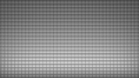 Geometric abstract wallpaper of grey color. 3d render background of squares Stockfoto