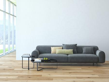 luxury living room: Contemporary living room loft interior. 3d rendering