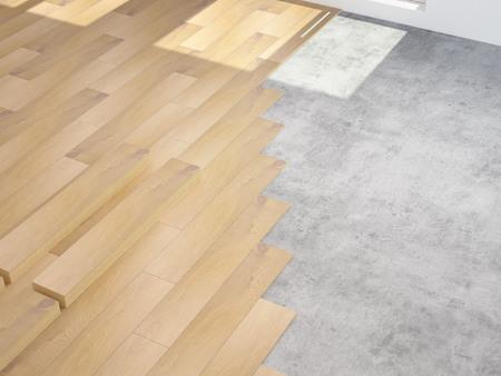 modernization: a costly modernization of an apartment. 3d rendering