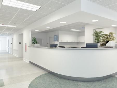 a very clean hospital interior. 3d rendering Stock fotó