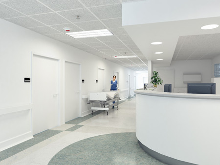 a very clean hospital interior. 3d rendering Banco de Imagens - 40140186