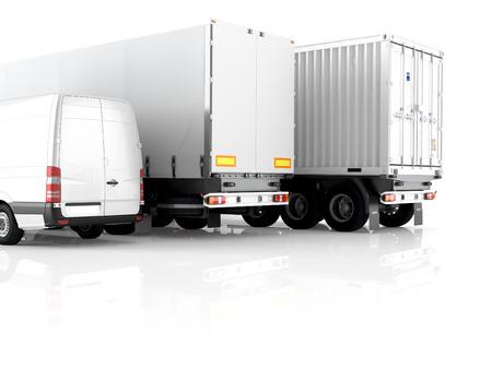 3d renderingdifferent Transport auf einem weißen Hintergrund. Standard-Bild - 40140241