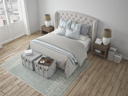 duvet: 3d rendering. a luxury modern style bedroom.