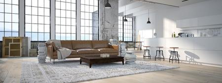 case moderne: La cucina moderna interni di design. rendering 3D