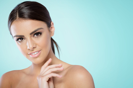 perfect face: Beauty Spa Woman with perfect skin Portrait.