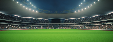 stadion met fans de avond voor de wedstrijd