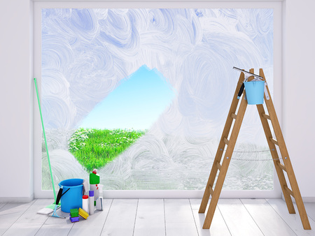 housecleaning at home. spring concept Stockfoto