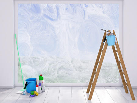 housecleaning at home. spring concept Stock Photo