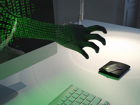 computer hacker attack . 3d rendering