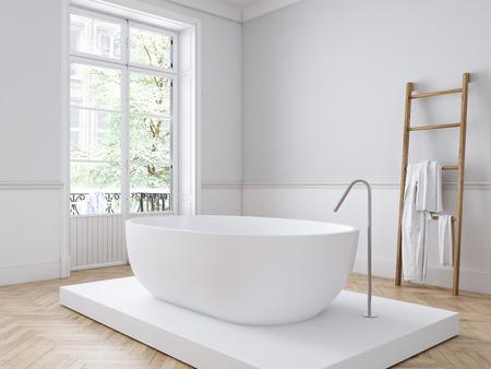 古典的な豪華なバスルーム。3 d レンダリング 写真素材 - 83175521