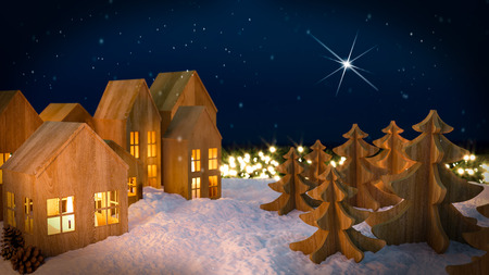 beautiful christmas background. 3d rendering