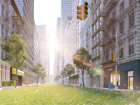 ecologically big city life. 3d rendering 写真素材