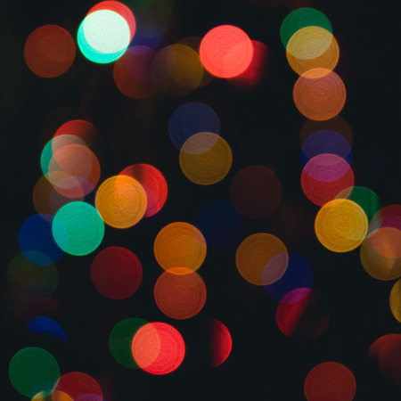 Defocused christmas lights background photo