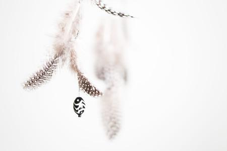 dreamcatcher: Feathers of dreamcatcher Stock Photo