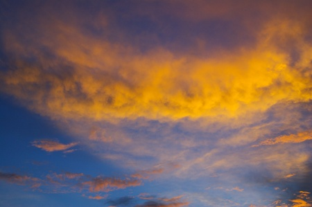 Colorful sky at sunset photo