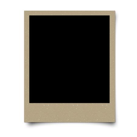 Brown blank photo frame Stock Photo