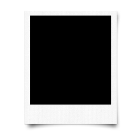 Recycle white blank photo frame
