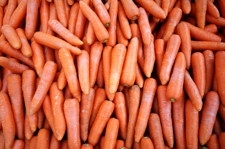 calorie rich food: fresh carrots at a weekly market