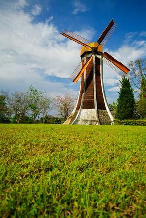 windmill on garden photo