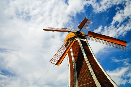 windmill on sky Stock Photo - 13751945