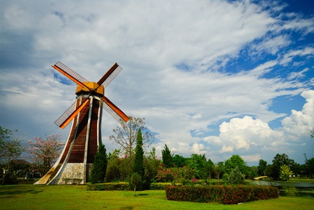 windmill on garden photo