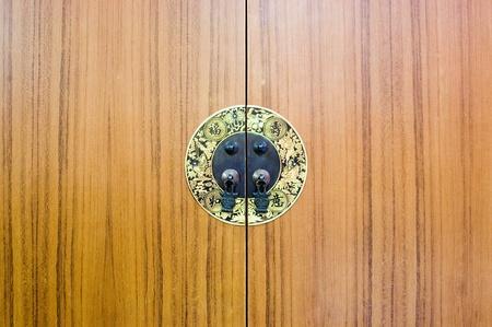 Wooden chinese cabinet door photo