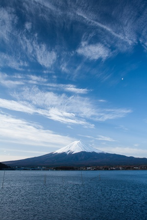 Fuji with lake in front photo