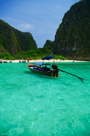 turquoise water: Beautiful blue sea from South Thailand, Asia