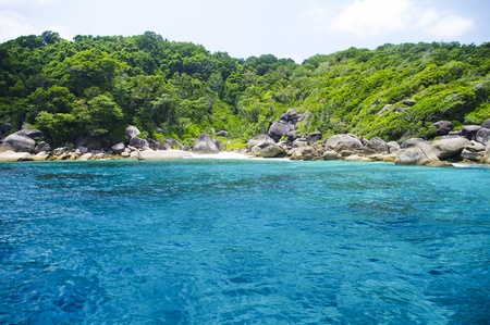 pristine corals: Beautiful blue sea from Similan South Thailand, Asia Stock Photo