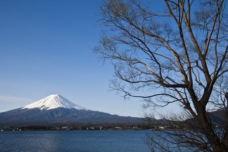 kawaguchi ko: Beautiful Mount Fuji with lake, japan