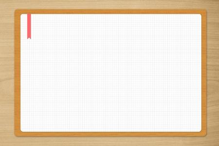 white paper on wooden desk Stock Photo - 15205797
