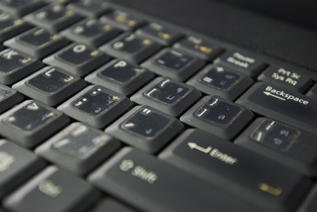 abstact view of a laptop keyboard Stock Photo - 15205813