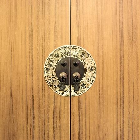 Close-up van een Chinese kast