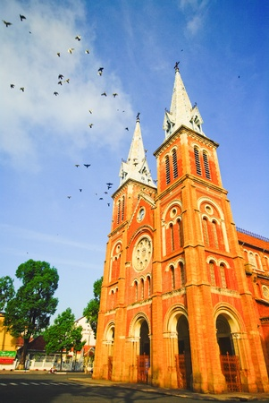 cathedral in Ho Chi Minh City, Vietnam photo