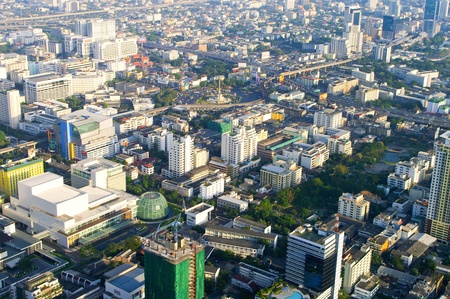 Bangkok city top view