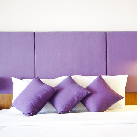 king size: Image of comfortable pillows and bed
