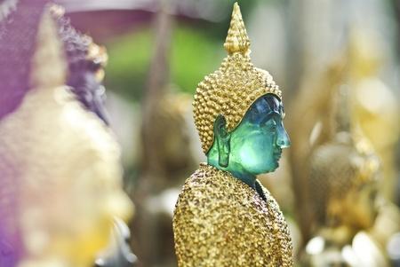 face of thai Buddha Green Statue closeup Stock Photo - 15153962