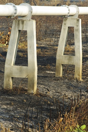 deliverables: gas pipe line that laid through burn field