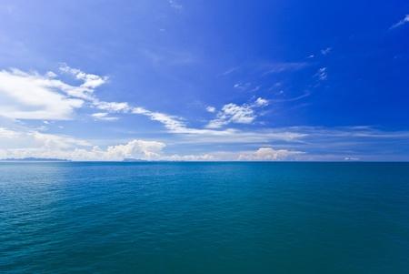 Sea and island on samui Thailand photo