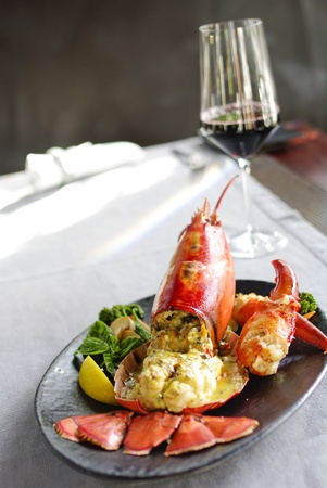 lobster dinner: Gourmet lobster dinner at the restaurant