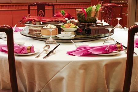 chinese pig: Chinese Asian restaurant set