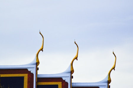 Rooftop temple Thailand photo