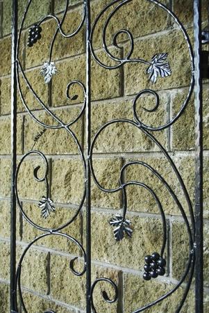 iron cross: Curved steel door