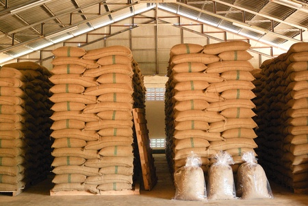 Coffee beans warehouse Stock Photo - 15390658
