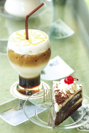 Coffee with cake photo