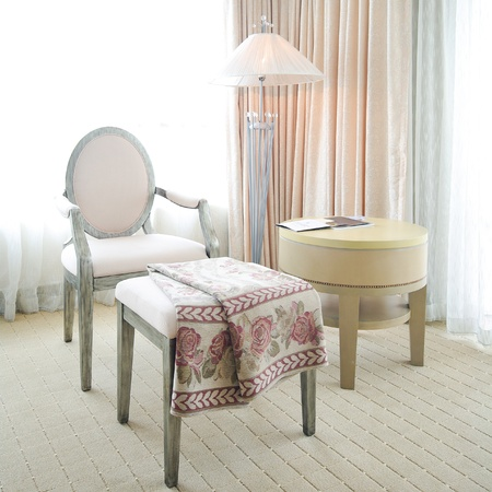 Luxurious vintage hotel room interior Stock Photo