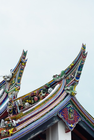Malaysia Chinese  Cheng Hoon Teng  temple roof photo