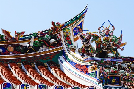Malaysia Chinese  Cheng Hoon Teng  temple roof Stock Photo - 15411285