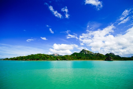 Sea and island on samui Thailand photo