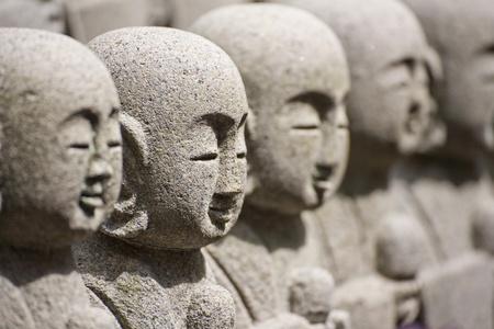 kanagawa: KAMAKURA -  Close up buddha sculptures at Hase Kannon Temple, in Kamakura, Kanagawa, Japan